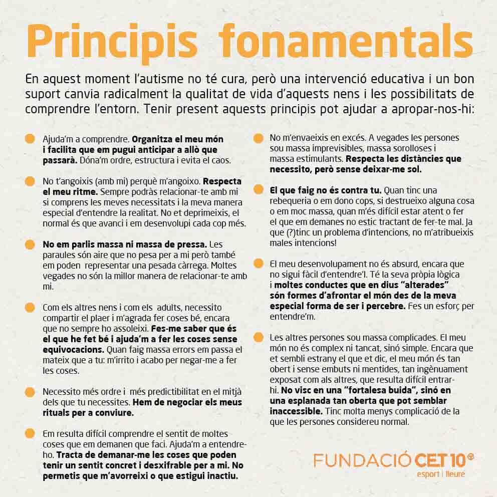Principis fonamentals de l'autisme