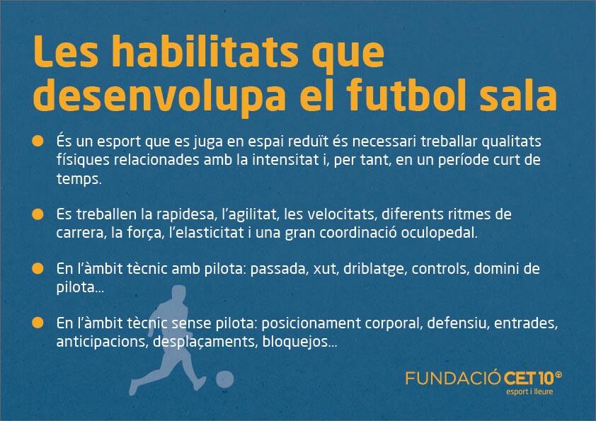Seccions esportives futbol sala Fundació CET10