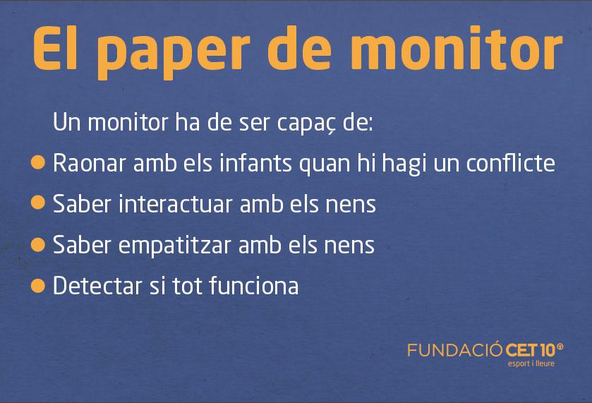 El paper de monitor de llleure - Fundació CET10 - Escola Lexia