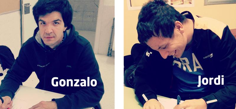 El Jordi i el Gonzalo, alumnes del projecte d'inclusió