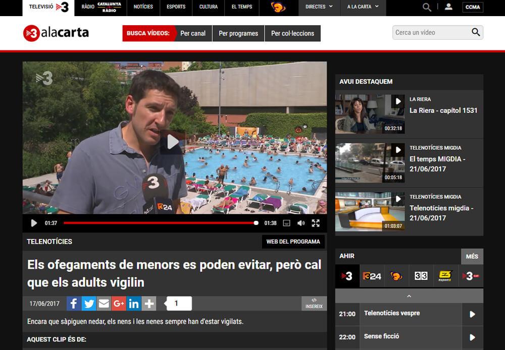 TV3 - Cap nen s'ofega - Fundació CET10